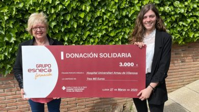 Photo of Esneca Business School dona 3.000 euros al Hospital Universitari Arnau de Vilanova de Lleida para ayudar a combatir el coronavirus