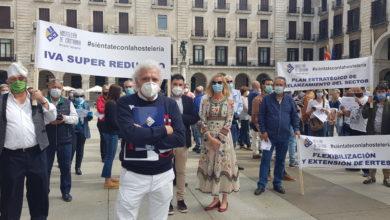 Photo of Los hosteleros cántabros se concentran frente a la delegación del Gobierno