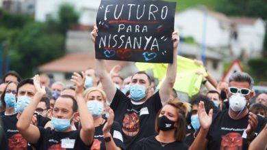 Photo of Unos 200 trabajadores de Nissan Barcelona llegan a Los Corrales al grito de 'Nissan no se cierra'