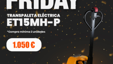 Photo of Carretillas TR incorpora la transpaleta eléctrica ET15MH-P en el Black Friday