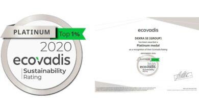 Photo of DEKRA obtiene la medalla platinum en la Calificación de Sostenibilidad Corporativa de EcoVadis