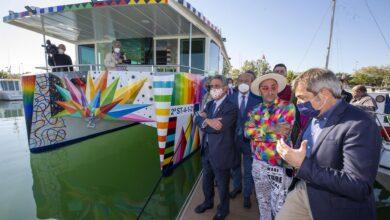 Photo of Cantabria lanza el primer catamarán electrosolar convertido en obra de arte gracias a Metaltec y Okuda